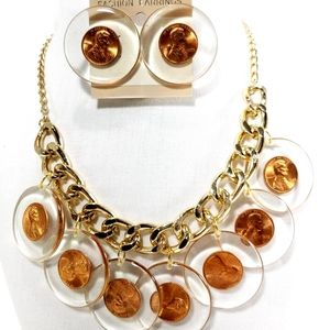 Fashion Women Crystal Pendant Necklace Jewelry Bib